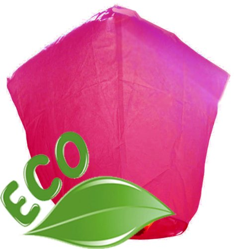 Just Artifacts Wholesale 240 ECO Wire-Free Flying Chinese Sky Lanterns (Set of 240, Wire-Free Diamond, Pink) - 100% Biodegradable, Environmentally Friendly -
