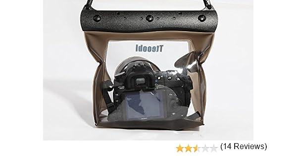 Bolsa transparente resistente al agua. Carcasa bajo el agua, funda para cámaras SLR,DSLR, Cámara Digital Canon 6d, 600D, 650D, Nikon D7100, D5200, D5100, D3200. Apto para natación. Tu nuevo compañero para deportes