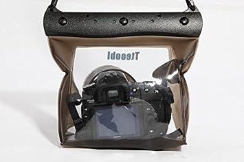 Bolsa transparente resistente al agua. Carcasa bajo el agua, funda para cámaras SLR,DSLR, Cámara Digital Canon 6d, 600D, 650D, Nikon D7100, D5200, ...