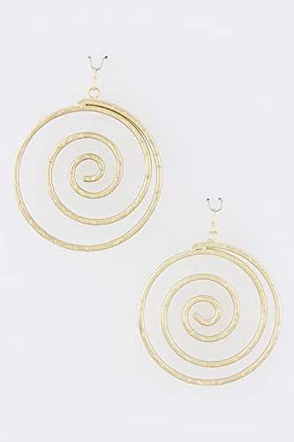 TRENDY FASHION JEWELRY ROUND SPIRAL EARRINGS BY FASHION DESTINATION