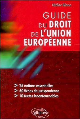Livres Guide du droit de l'Union européenne epub, pdf