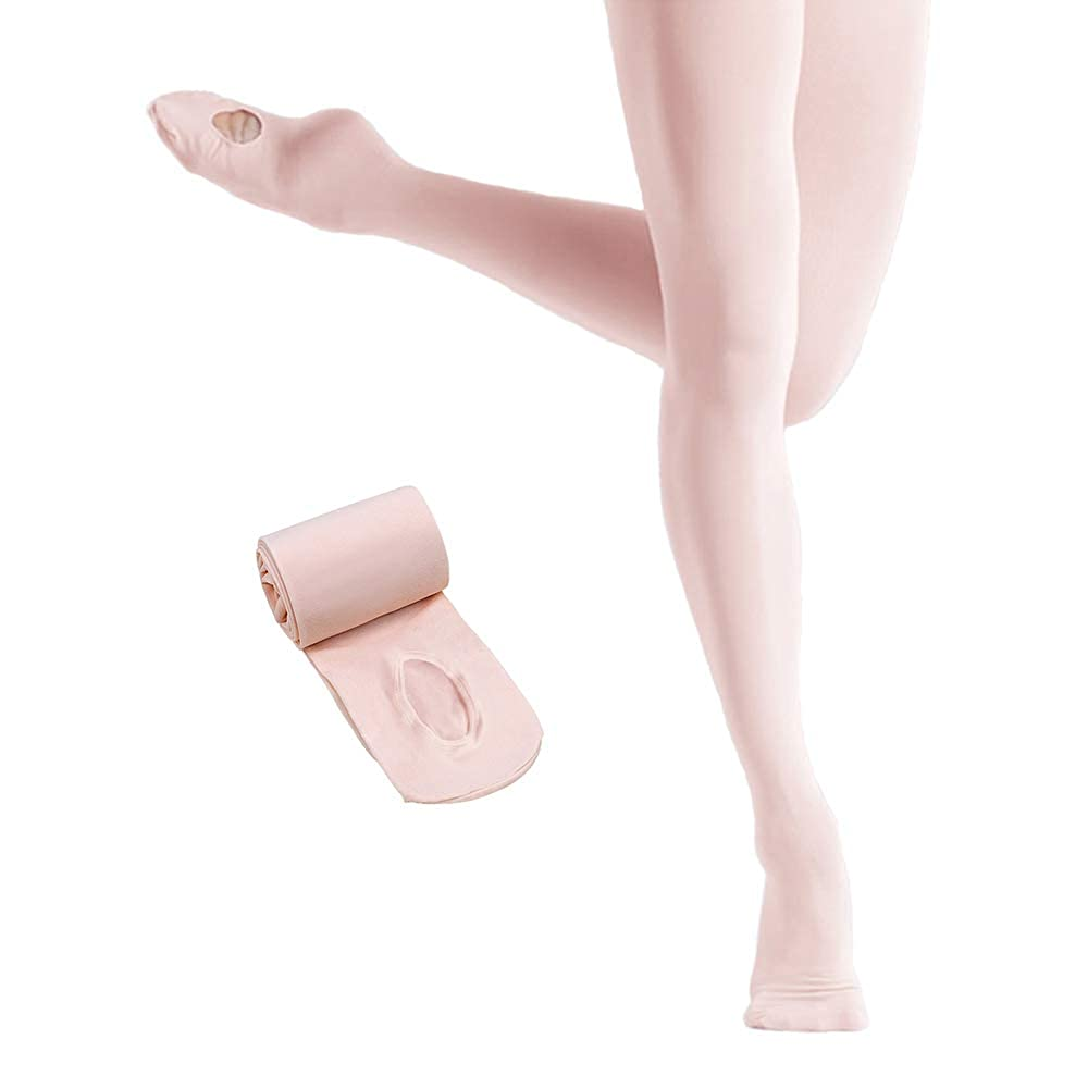 7d9088a44d5a3 Sports & Outdoor Clothing Girls SINOPHANT Ultra Soft Ballet Ballet Footed  Tights With Holes Dance Convertible ...