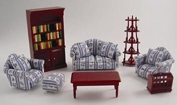 Dolls House Furniture 1/12 / 8 Piece Lounge Set/ New