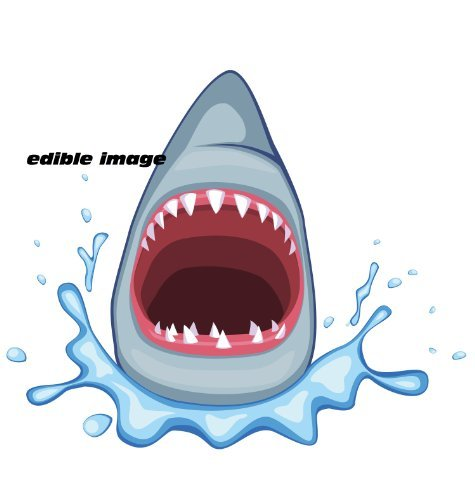 12 - Shark Attack Edible Icing Image Cupcake Toppers