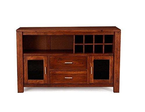 Jangir JDBF218 Bar Cabinet (Medium Glossy Finish, Walnut)