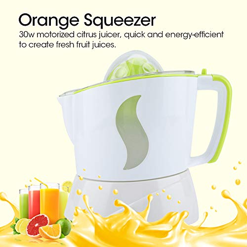 Domestic Electric Orange Juicer, 2 Way Automatic Electric Orange Citrus Squeezer Direction Juicer Household Machine Orange Juicer and Lime Squeezer