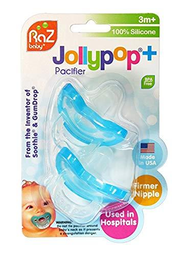 Amazon.com: RazBaby jollypop chupete con 8 unidades, Rosado ...
