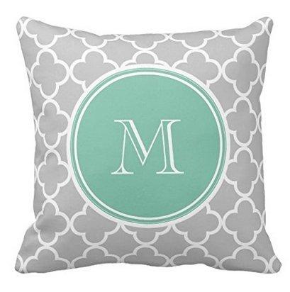 babyssj gris azulejos patrón, Verde Menta monograma manta ...