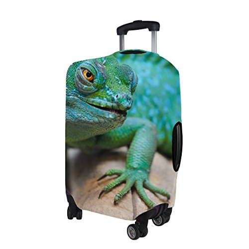 Lizard Reptile Green Muzzle Pattern Print Travel Luggage Protector Baggage Suitcase Cover Fits 18-21 Inch Luggage by TIANYUSS (Image #3)