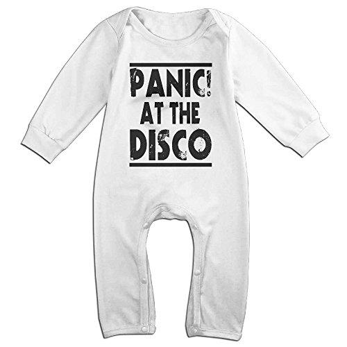 [ROBERT Baby Infant Romper Panic At The Disco Logo Long Sleeve Jumpsuit Costume 6 M] (Odd Squad Costume)