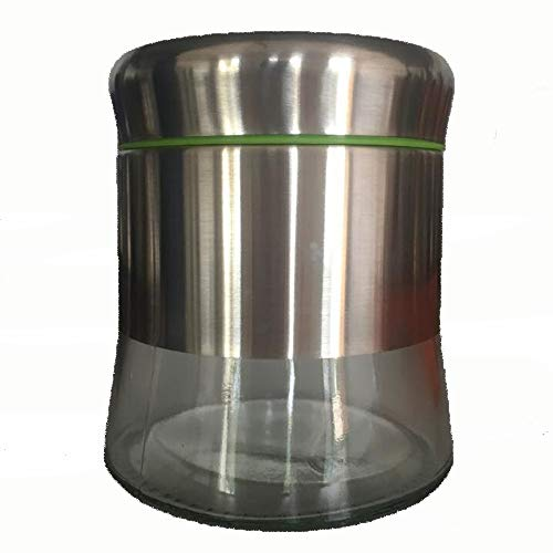 GROSSARTIG Kitchen Stainless Steel Lead-Free Glass Fashion Grain Food Grade Storage Tank (2PCS/LOT) (Capacity : 350ml)