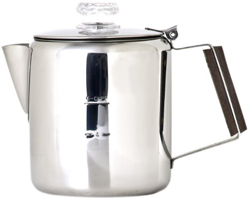 Chinook Timberline 6 Cup Stainless Steel Coffee Percolator, Outdoor Stuffs