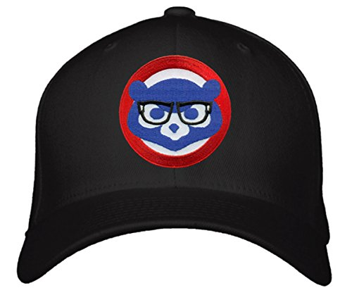 Chicago Cubs Hat With Comical Joe Maddon Harry Caray Glasses - Black Adjustable (Chicago Cubs Classic Cotton)