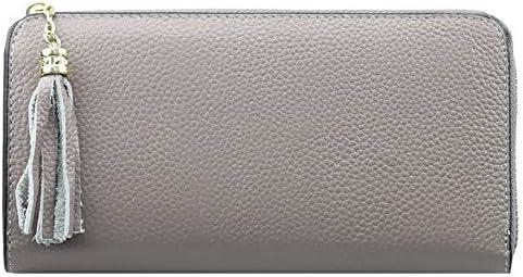 F.ZH 지갑 여성용 장 지갑 대용량 술 참 가죽 여성 지갑 L 자형 지퍼 장 지갑 / F.ZH Wallet Ladies Long Wallet Large Capacity Tassel Charm Genuine Leather Women Wallet L-shaped Zipper Long Wallet