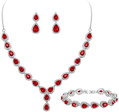 BriLove Teardrop Infinity Y Necklace Bracelet product image