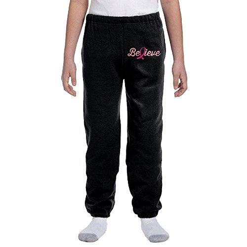 Price comparison product image Believe Ribbons Fuck Cancer Youth Cotton Sweatpants Large