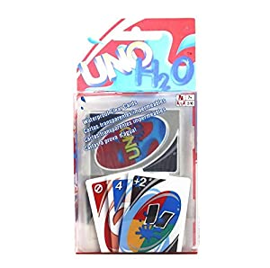 UNO 108 PCS H2O Waterproof PVC Transparent Family Playing Card