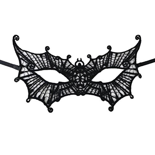 [Charberry Sexy Elegant Eye Face Mask Masquerade Ball Carnival Fancy Party (C)] (Makeup For A Bat Costume)
