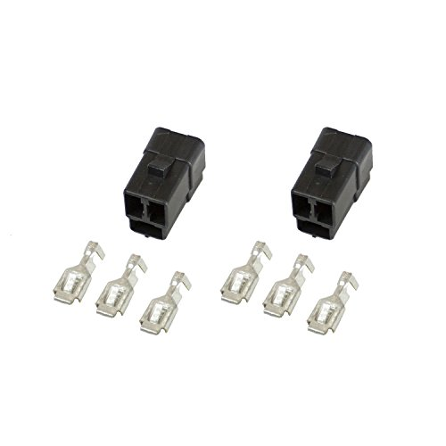 Auto Meter 3298 3-Terminal Wiring Connector for Electric Gauge, (Pack of 2)