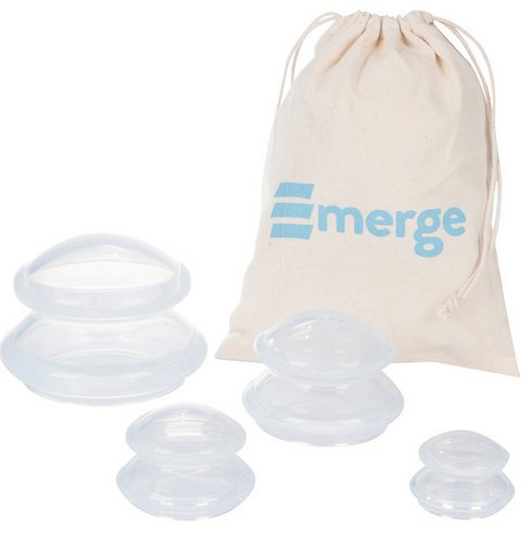 Premium Cupping Therapy Set - Perfect Home or Travel Kit - Medical Grade Best Quality - 4 Clear Cups (1)