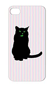 Tearproof Green For Iphone 5s Animals Nature Cat Cats Black Cat TPU Katze Case Cover