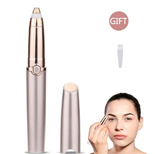 - Eyebrow Hair Remover, LetsRun Electric Painless Eyebrow Trimmer for Women, Portable Eyebrow Razor Eyebrow Epilator with LED Light (Battery Not Included)