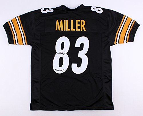 Heath Miller Signed Autographed Pittsburgh Steelers Jersey Inscribed (Heath Miller Autographed Steelers Jersey)