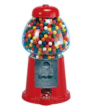 Ford Gumball Machine - Red, King Size with Stand, 1 gum ball machine (1 Gumball Machine)