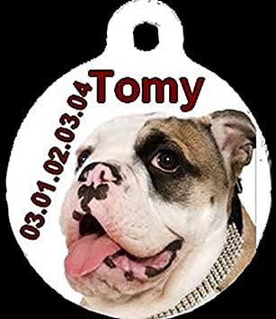 Générique Medalla Redonda Personalizada de Bulldog inglés con ...