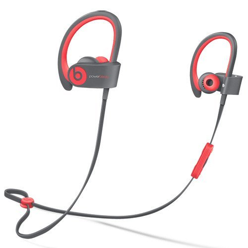 Beats by Dr dre Powerbeats2 Wireless In-Ear Bluetooth Headphone with Mic - Siren Red (Renewed)