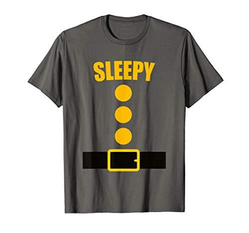 7 Dwarfs Halloween Costume Ideas (Dwarf Costume T-Shirt - Funny Halloween Gift Idea - Sleepy)