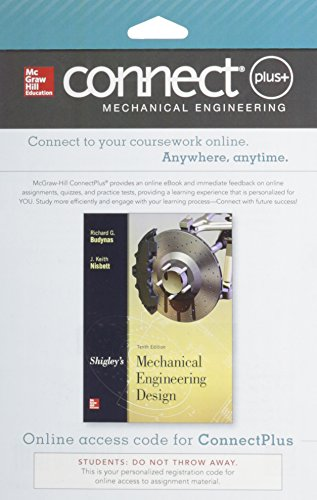 Connect 1-Semester Access Card for Shigley's Mechanical Engineering Design