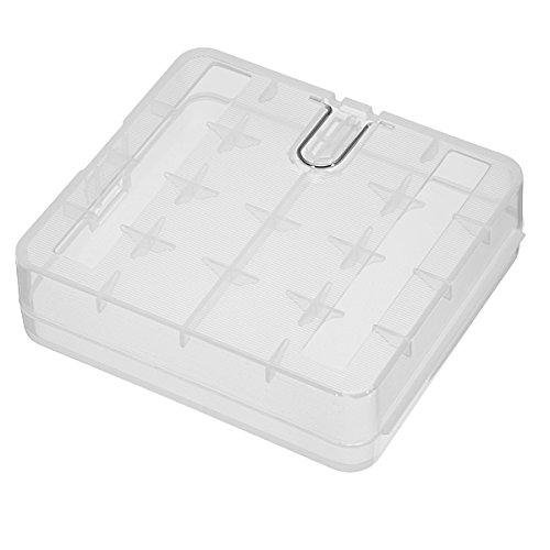 Lights & Lighting - Hard Portable Plastic Storage Box Case Holder For 4 X 18650 Battery - Battery Plastic Case Holder Ryobi Power Tool Cases Storage Clear - 1PCs