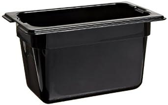 "Carlisle 1032103 TopNotch Ninth-Size Pan, 1 qt. Capacity, 6.75 x 4.25 x 4.00"", Black (Case of 6)"