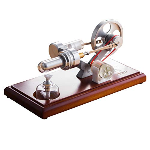 At27clekca QX-FD-03 Hot Air Stirling Engine Power Generator Motor Model Science Educational Lamp Toy Electricity Generator by At27clekca (Image #5)