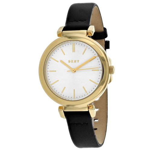 DKNY Women's Ellington Analog-Quartz Watch with Stainless-Steel-Plated Strap, Black, 12 (Model: NY2587