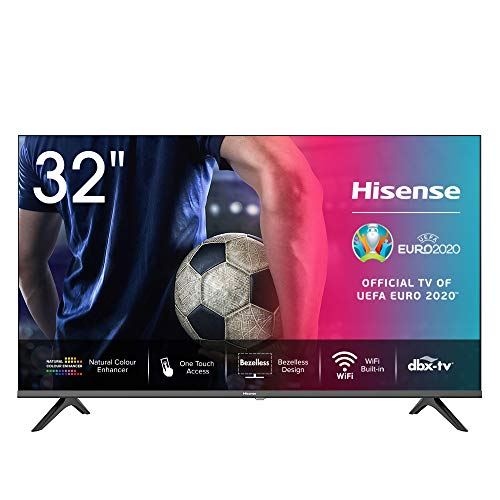 Hisense 32AE5500F – Smart TV Resolución HD, Natural Color Enhancer, Dolby Audio, Vidaa U 2.5, HDMI, USB, Salida…