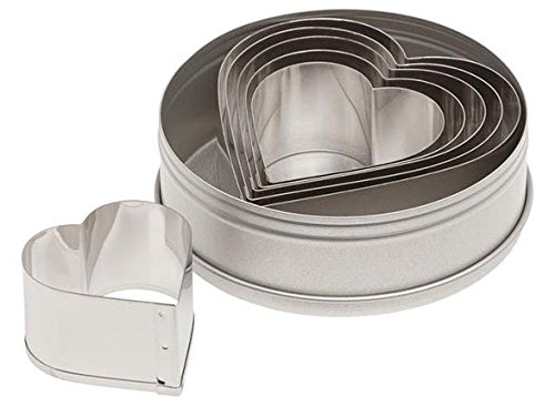 Ateco Graduated Heart Cookie Cutters, Set of 6