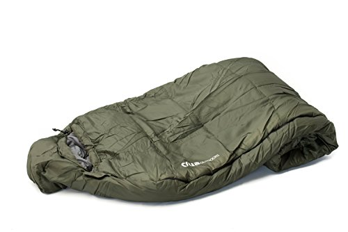 Crua 3 Seasons Sleeping Bag - Rated for -5°C (23°F) Outdoor Camping | Fits with Crua Hybrid | Light Weight Portable Compression Sack Included