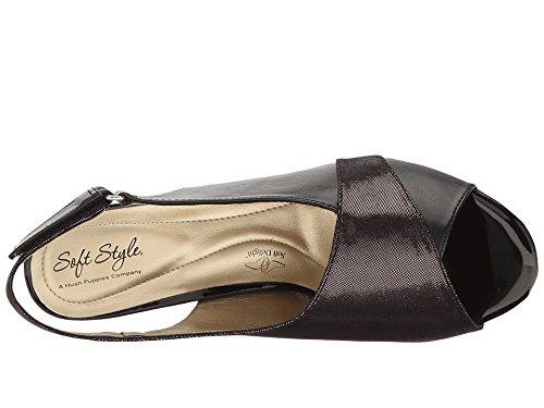 Soft Style by Hush Puppies Women's Maia Dress Sandal, Black, 6 W US