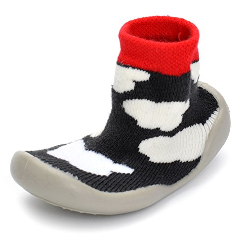 Price comparison product image LIVEBOX Baby Cotton Sock Shoes, Novelty Winter Kint Floor Socks Boots With Soft Anti Slip Rubber Sole For Infants and Toddlers (XL: 15cm/5.9inch, Clouds)