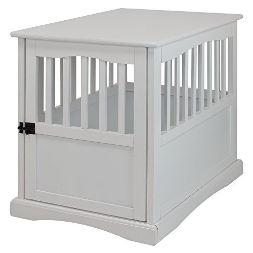Top dog kennel end table white