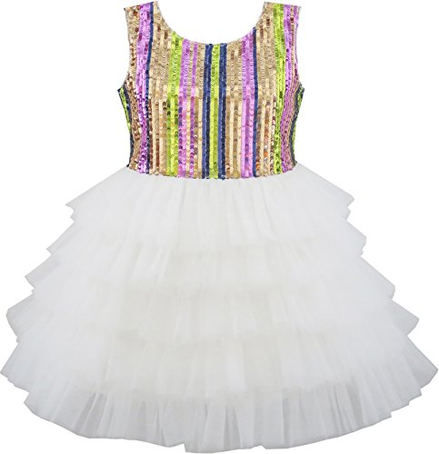 Best Sunny Fashion Dresses For Girls - Sunny Fashion JT26 Girls Dress Colorful