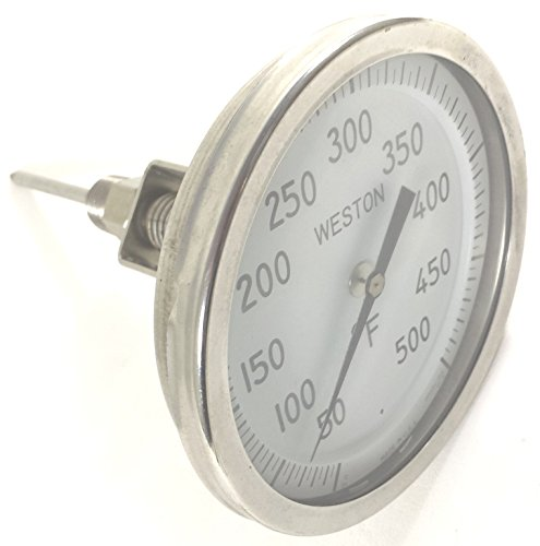 WESTON 4504-50/500-5 5D IN 6SL 50F/500F .5 ADJUSTABLE SS INDUST THERMOMETER