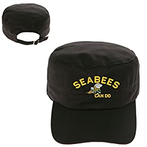 SEABEES Can do logo Military Cadet Army Hunter Castro Cap Hat by Military