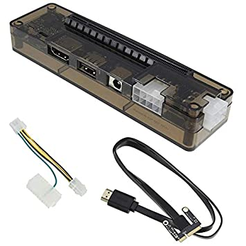 TOOGOO Nuevo Pcie Pci-E Pci Tarjeta de Video Externa Independiente para Ordenador Portátil Tarjeta Dock Express Versión Mini Pci-E para V8.0 Exp Gdc