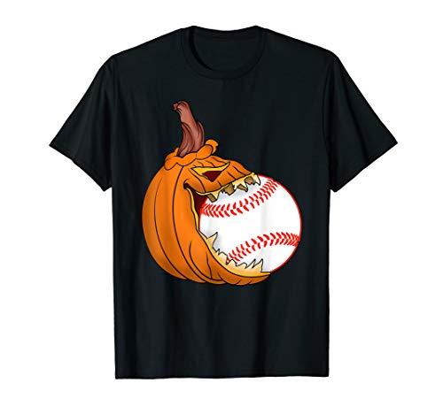 Pumpkin Carving Eat Baseball Ball Costume T-Shirt]()