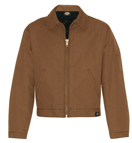 Dickies Brown Jacket - Dickies Occupational Workwear LJ539RBDM LJ539 Canvas Duck Jacket, Size M, Fabric, Medium, Rinsed Brown Duck