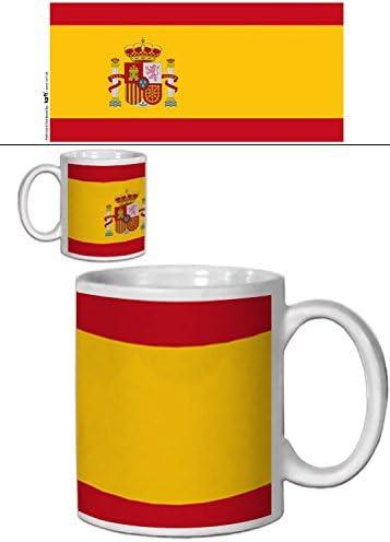1art1 España - Banderas del Mundo Taza Foto (9 x 8cm): Amazon.es: Hogar