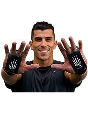Bear KompleX 2-gaats Carbon Handgrepen voor gymnastiek, Crossfit, Pull-ups, Gewichtheffen, WOD's met polsbanden, comfort en ondersteuning, handbescherming tegen scheuren en blaren voor dames